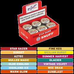 McChrystal's Flavours Box Mini Tins Snuff
