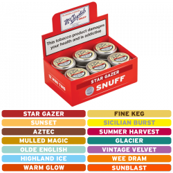 McChrystal's Flavoured Snuff Tins - Box of 12