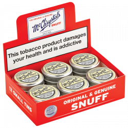 McChrystal's Snuff - Box of 12 Small Tins