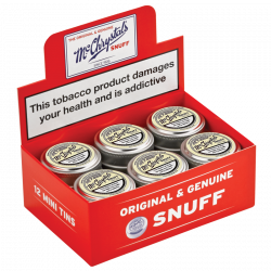 McChrystal's Original & Genuine Snuff - Box of 12 Mini Tins