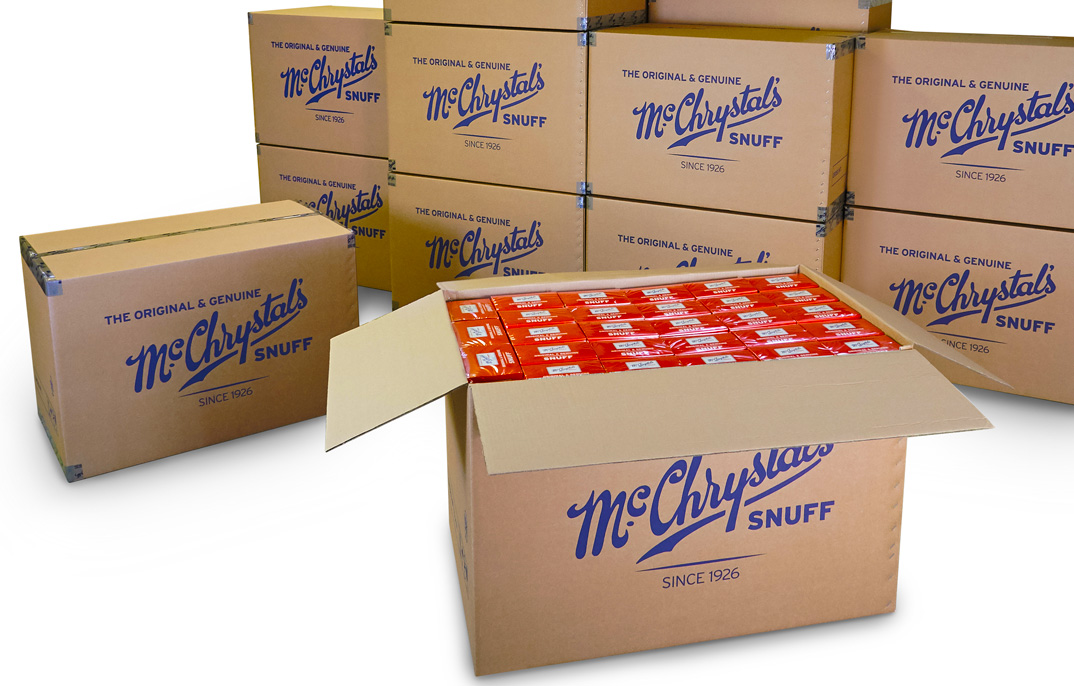 McChrystal's Snuff in packaged boxes