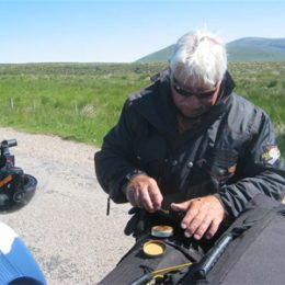 Biker with McChrystal's Snuff
