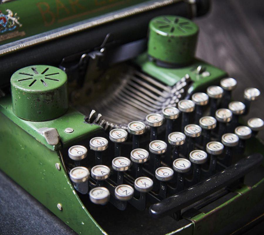 McChrystal's Snuff typewriter