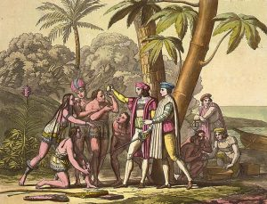 Christopher Columbus and the native Indians