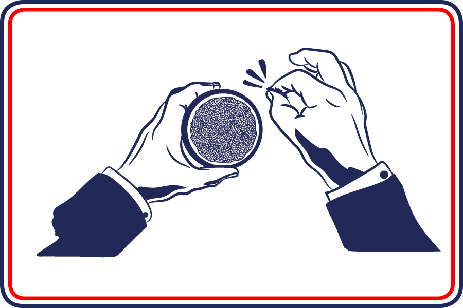 Cartoon of man pinching McChrystal's Snuff from a tin